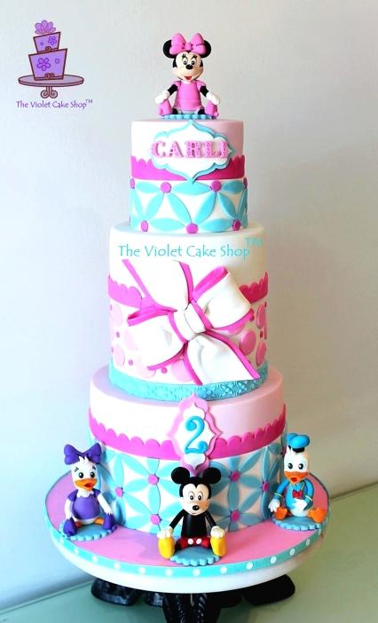 Carlington's 2nd Birthday - Minnie, Mickey, Daisy and Donald - Closeup - twmpm