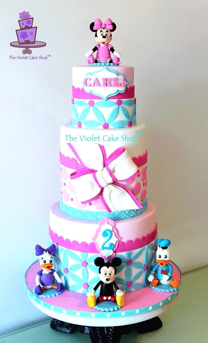 Swell Carlingtons 2Nd Birthday Minnie Mickey Daisy And Donald Personalised Birthday Cards Vishlily Jamesorg