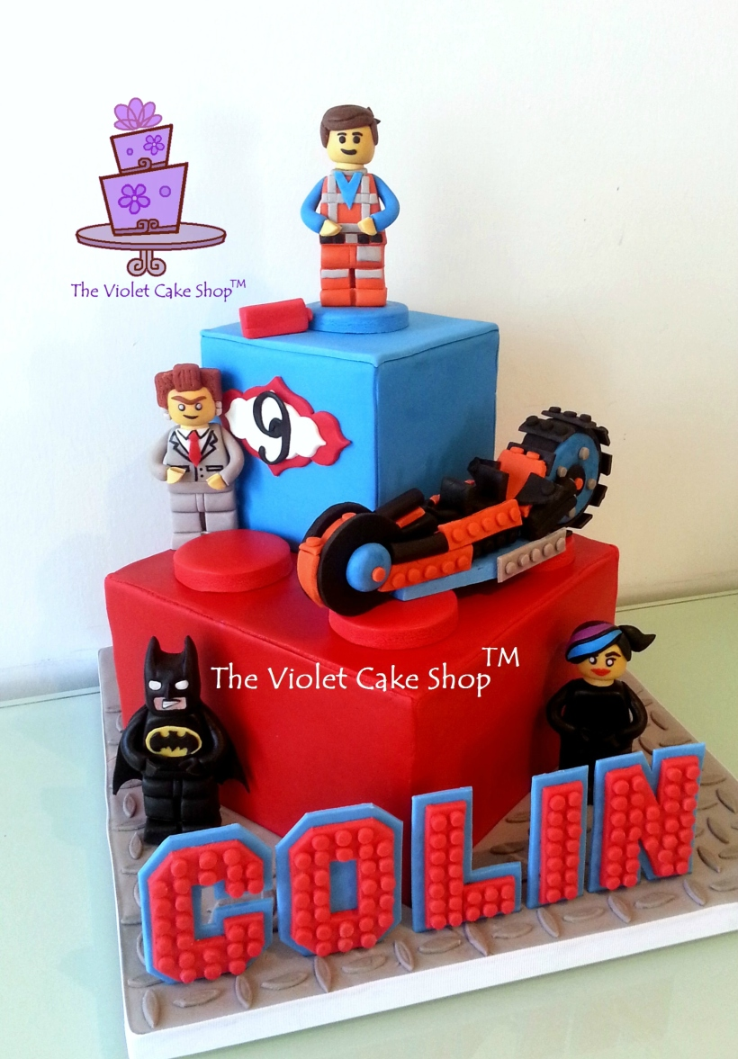 Colin's 9th B-Day Lego Movie Cake - front - twmpm