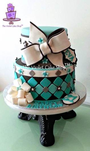 Eva's 21st Tiffany Blue with Bows - twm
