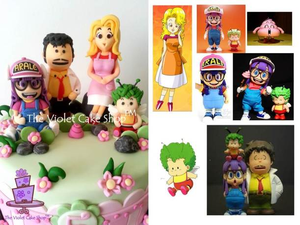 Dr. Slump Inspired Character Cake