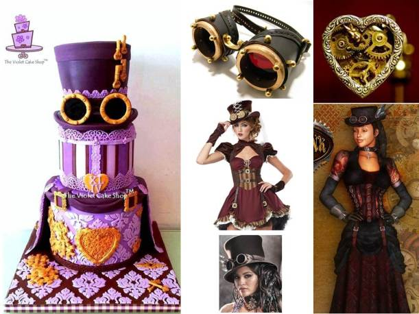 My Steampunk XLIV Birthday Cake Inspiration Board
