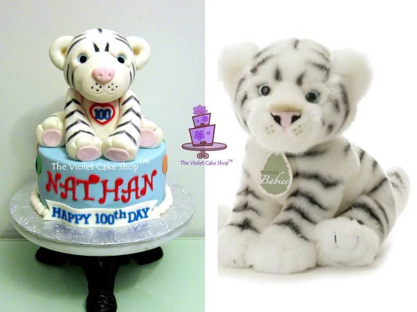 Nathan's 3D White Tiger Cake