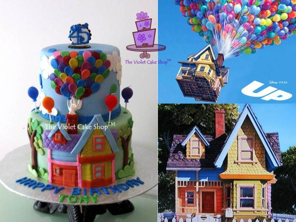 Up Cake Inspired by Disney Pixar Up Movie