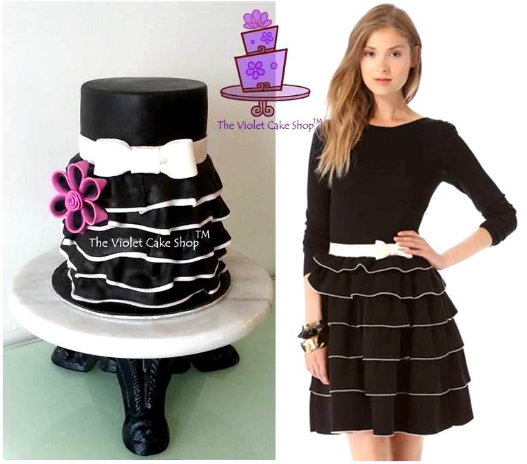 Dress cake inspired by of course the dress by valentino