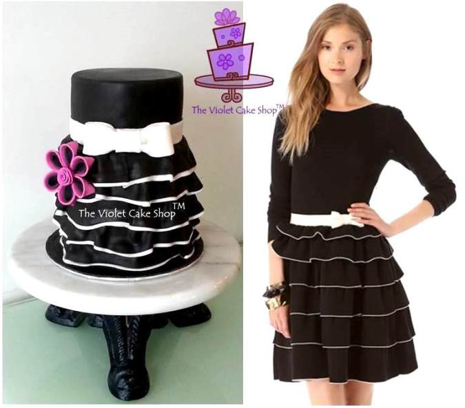 Valentino Inspired Black & White Ruffles
