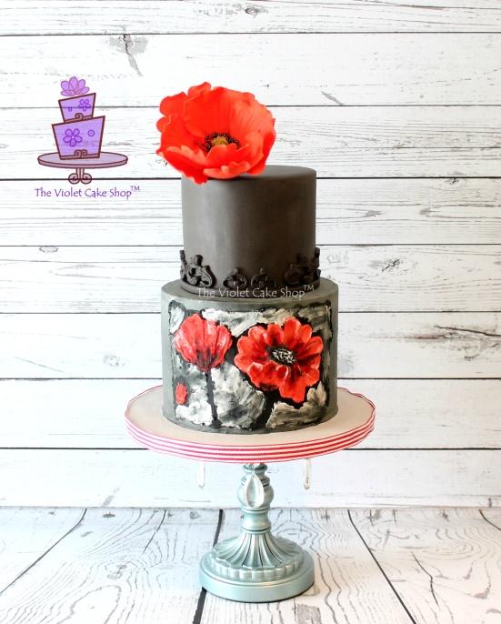 Dan's 45th 2D-3D Poppy Inspired Cake - twmpm