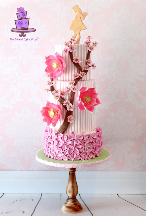 The Violet Cake Shop for Pretty Pink for Yasmine collab - final submission