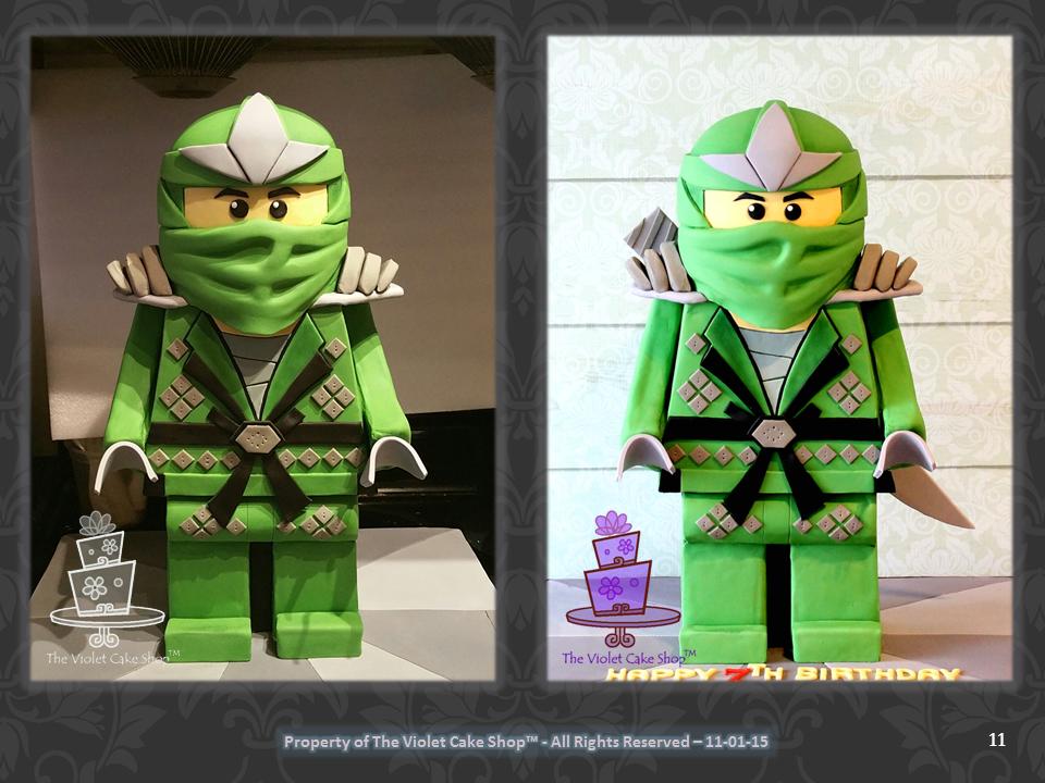 3D Standing Lego Ninjago Tutorial 11
