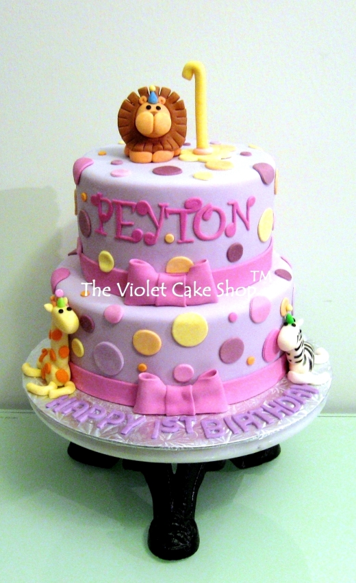 Peyton's Purple Polka Dot Safari Animals - wm TVCS