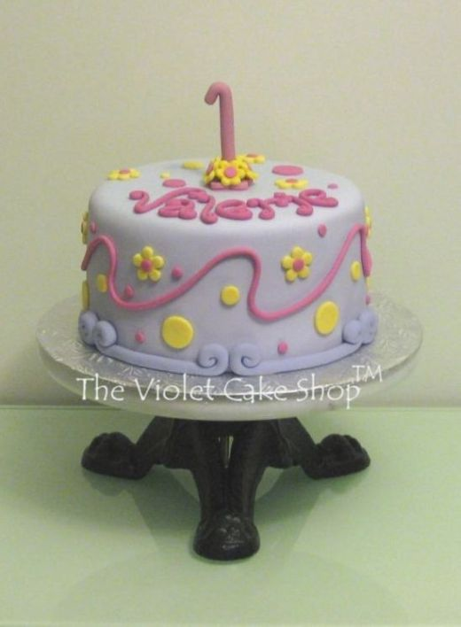 Valerie's 1st - front - Flowers & Polka Dots - wm TVCS