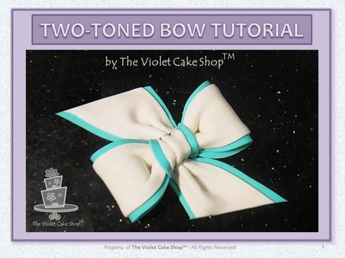 My Two-Toned Bow Tutorial - 1