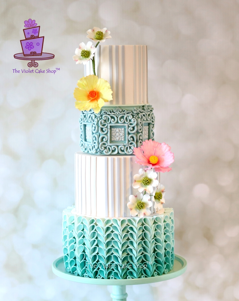 The Violet Cake Shop - CM Blue Ombre - Full Cropped - IMG_5428 - ii - watermarked