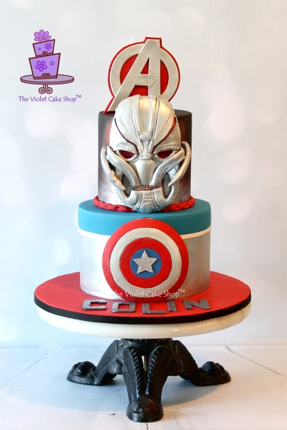 The Violet Cake Shop - Colin's Avengers Cake