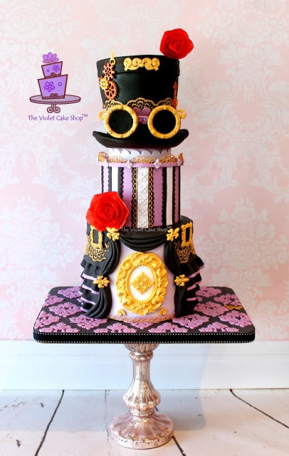 The Violet Cake Shop - Steampunk Fashion Cake with Top Hat