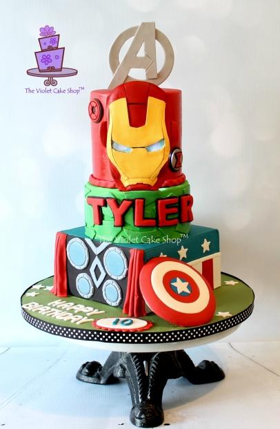 The Violet Cake Shop - Tyler's Avengers Cake