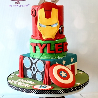 The Violet Cake Shop - Tyler's Avengers Cake
