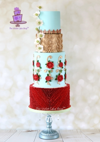 The Violet Cake Shop - Elegant Indian Fashion Collaboration - Utsava
