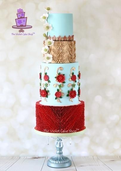 The Violet Cake Shop - Elegant Indian Fashion Collaboration - Utsava