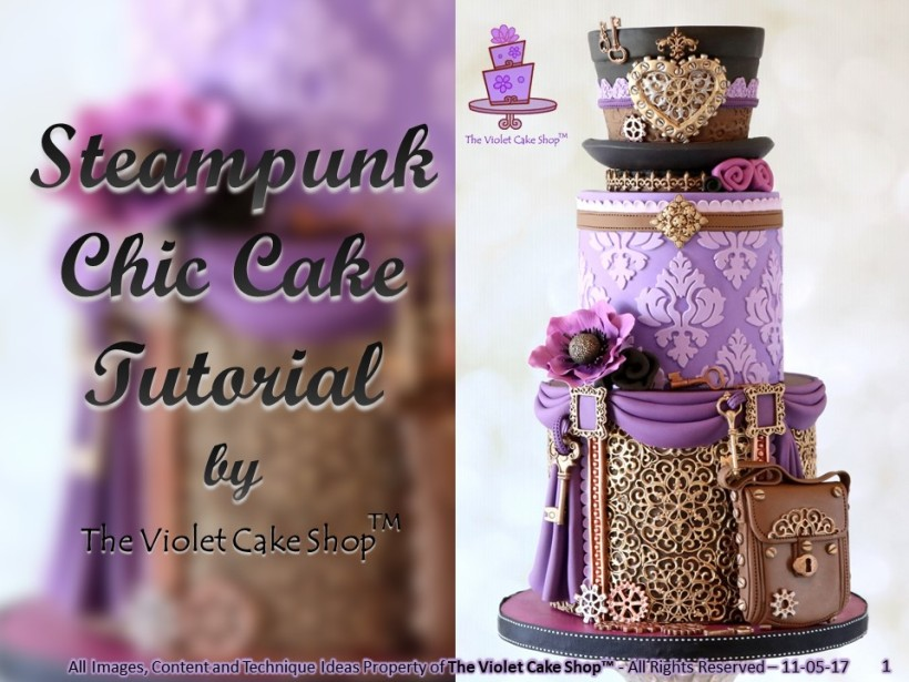 The Violet Cake Shop - Steampunk Chic Full Tutorial - 1 - cover