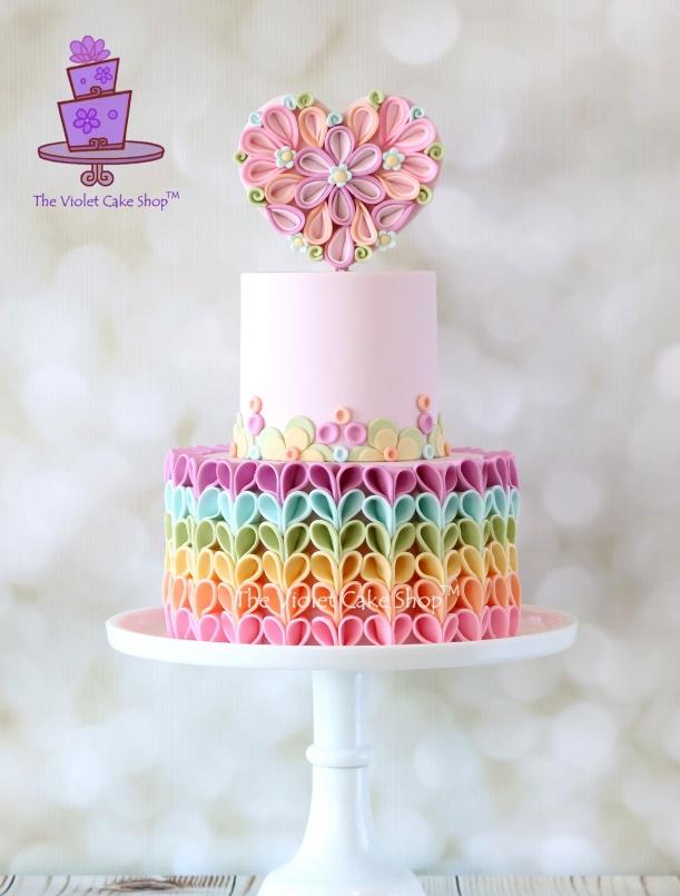 The Violet Cake Shop - Pastel Rainbow V-Petal Ruffles - IMG_9804 - ii - wm